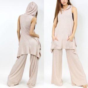 Pants - Last 2! Beige Top and Pant Set